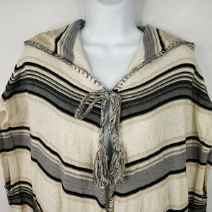 Anthropologie Moth Calexico Hooded Fringed Beige S